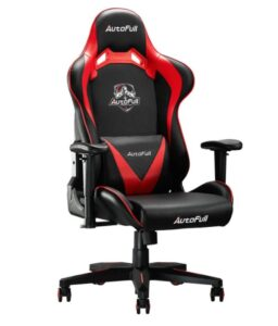 AutoFull Computer Gaming Chair with Headrest and Lumber Support