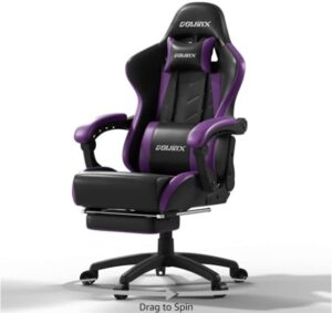 Dowinx Gaming Chair Ergonomic Racing Style Recliner with Massage Lumbar Support