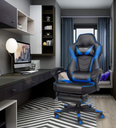 ELECWISH Computer Gaming Chair Executive Ergonomic Racing Style Office Chair