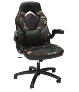 OFM racing style gaming chair in green color