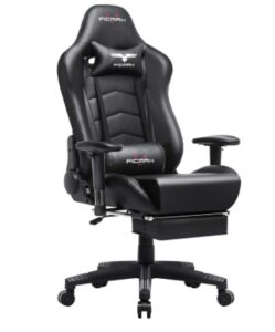 Ficmax Gaming Chair with Footrest black color