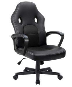 Furmax Office Desk Leather Gaming, High Back Ergonomic Adjustable Racing Task Swivel Executive Computer Chair