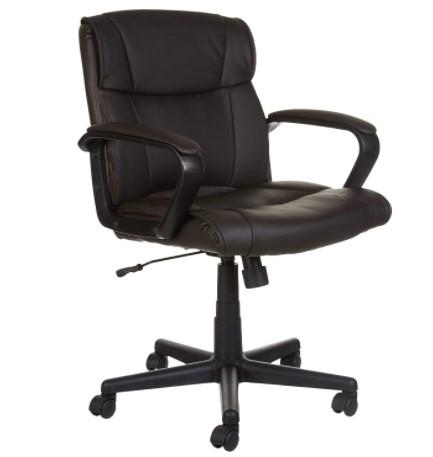 Amazon Basics Padded, Ergonomic Office Chair