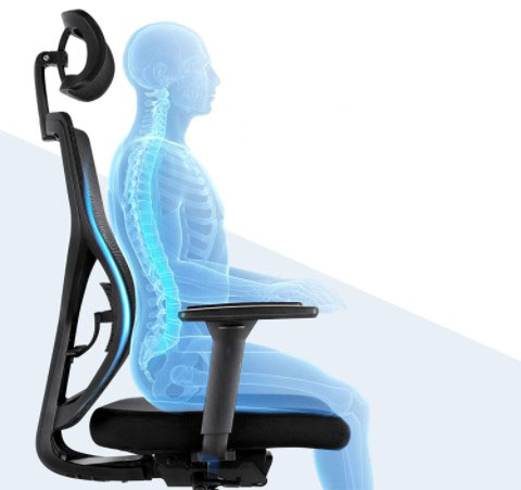 sitting position after back surgery on office chair