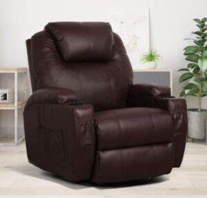 Esright Massage Recliner Chair Heated Composite Materials Ergonomic Lounge Chair
