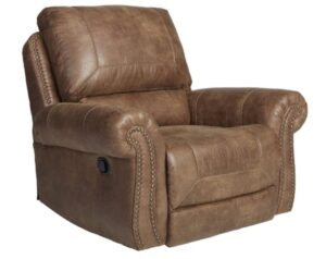 Signature Design by Ashley - Larkinhurst Contemporary Faux Leather Rocker Recliner for sleeing