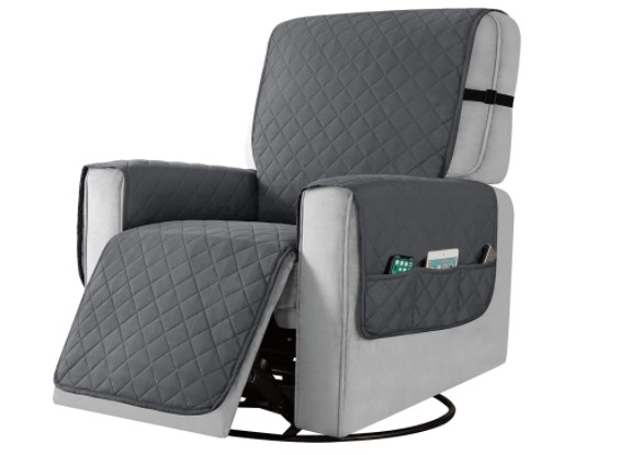 recliner with a headrest cover